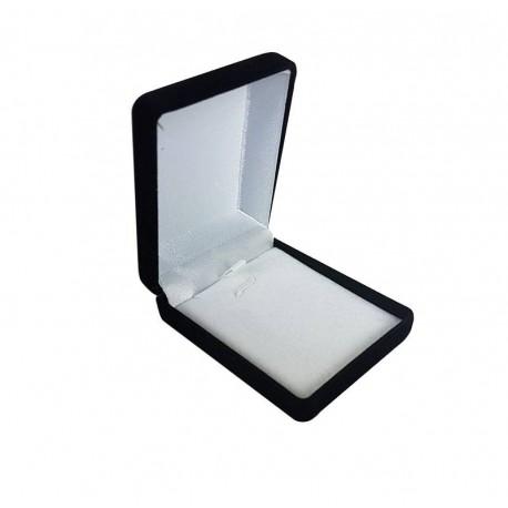 1 écrin bijoux en velours noir pour chaîne 6x7.5x3cm - 10058