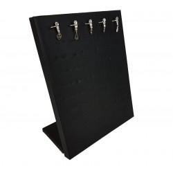 Baguier vertical en simili cuir de couleur noire - 6828