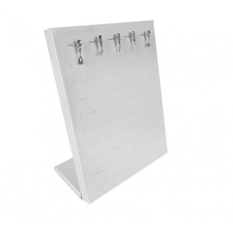 Baguier vertical en simili cuir de couleur blanche - 6827