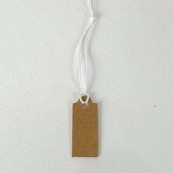 100 etiquettes à fil kraft pour prix 2x1cm - 6820