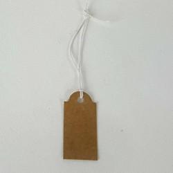 100 étiquettes brun naturel à fil pour prix - 6821