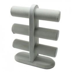 Présentoir bracelets velours gris - 4713
