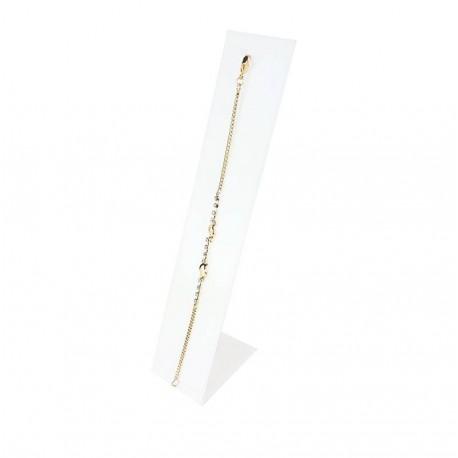 Support bracelet droit de couleur blanche 19cm