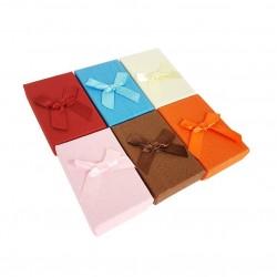 24 écrins parures 6 couleurs avec noeud cadeaux - 10050
