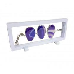 Présentoir à bracelet ou collier flottant blanc 23x9cm - 6853