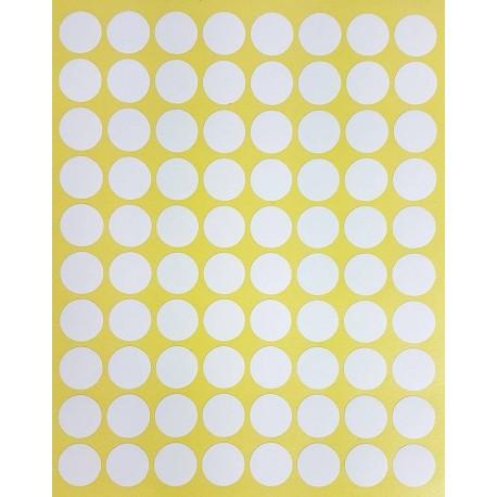 800 petites gommettes rondes de couleur blanche ø 15mm - 6856