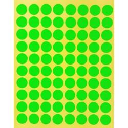 800 petites gommettes rondes de couleur verte ø 15mm - 6861