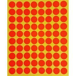 800 petites gommettes rondes de couleur orange foncé ø 15mm - 6858