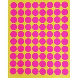 800 petites gommettes rondes de couleur rose ø 15mm - 6860
