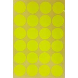 240 gommettes de ø 25mm de couleur jaune fluo - 6863