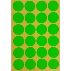 240 gommettes de ø 25mm de couleur verte - 6867