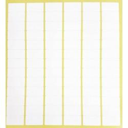 780 gommettes rectangulaires de couleur blanche 13x24mm - 6868