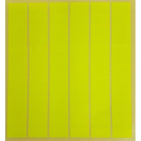 780 gommettes rectangulaires de couleur jaune fluo 13x24mm - 6869