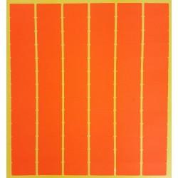 780 gommettes rectangulaires de couleur orange foncé fluo 13x24mm - 6870