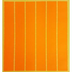 780 gommettes rectangulaires de couleur orange clair fluo 13x24mm - 6871