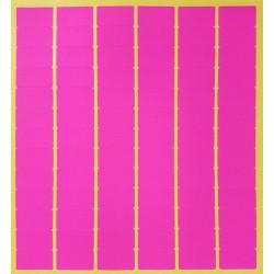 780 gommettes rectangulaires de couleur rose fluo 13x24mm - 6872