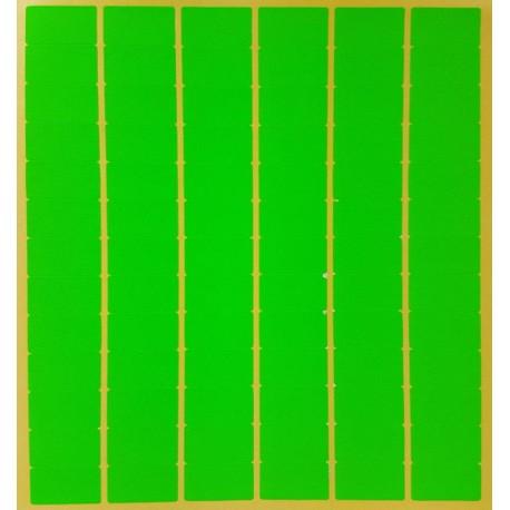 780 gommettes rectangulaires de couleur vert fluo 13x24mm - 6873