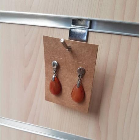 100 supports carton brun pour bijoux à suspendre 6x8cm - 6887