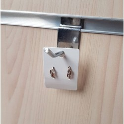 100 petits supports boucles d'oreilles en carton blanc 4.5x3.2cm - 6891