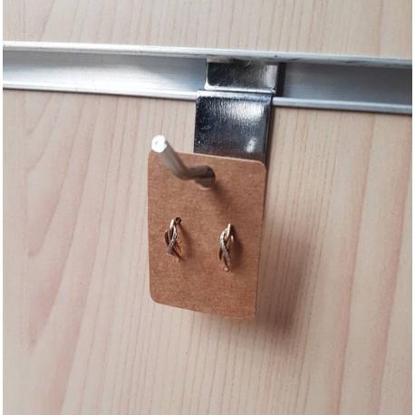 100 petits supports boucles d'oreilles en carton brun 4.5x3.2cm - 6892