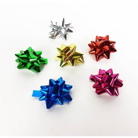 Lot de 100 petits noeuds cadeaux brillants 2.5cm - 6879