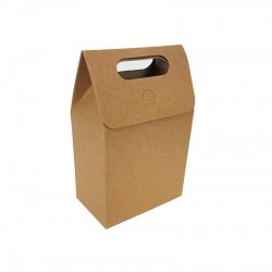 12 petites boîtes cadeaux de couleur brun naturel à plier 10x15x6cm - 6893
