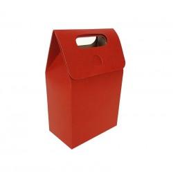 12 petites boîtes cadeaux à plier de couleur rouge 10x15x6cm