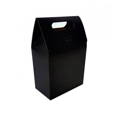 12 petites boîtes cadeaux à plier de couleur noire 10x15x6cm - 6895