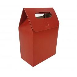 12 pochettes cadeaux à plier en kraft rouge 13.5x19.5x8cm - 6897