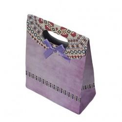 Lot de 12 pochettes cadeaux de couleur mauve 19x27x9cm - 6922