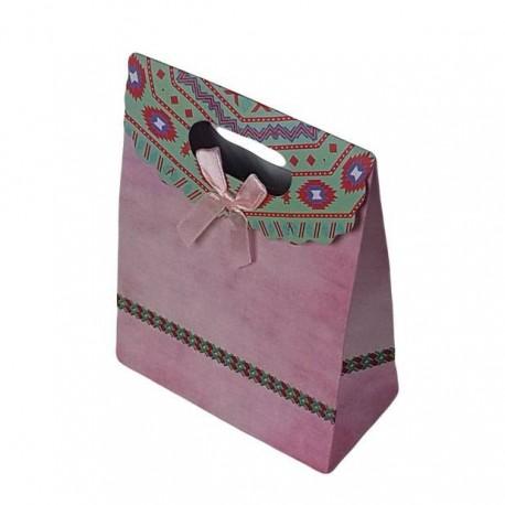 Lot de 12 pochettes cadeaux de couleur rose 19x27x9cm - 6923
