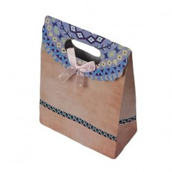 Lot de 12 pochettes cadeaux de couleur rose pêche 19x27x9cm - 6924