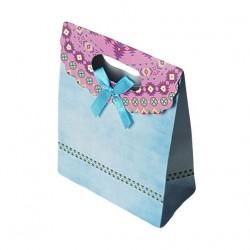 Lot de 12 pochettes cadeaux de couleur bleu ciel 19x27x9cm - 6925
