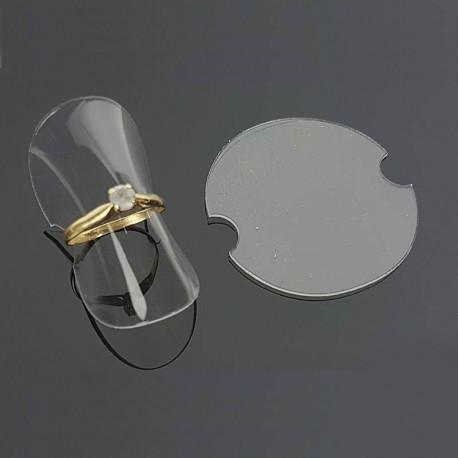 25 supports bagues en silicone souple transparent - 6048