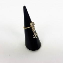 Cône creux pour bague en acrylique noir - 6233
