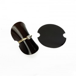 25 supports bagues en silicone souple noir - 6049
