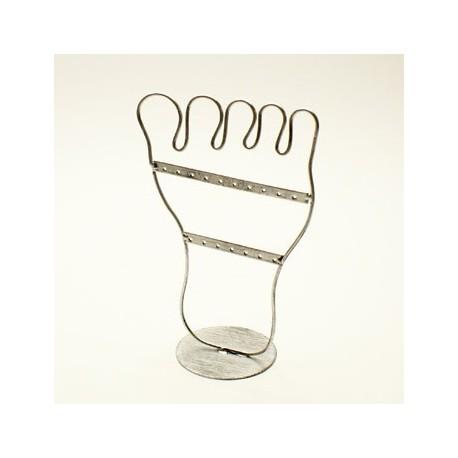 Porte bijoux argent en forme de pied pr sentoirs boucles - Presentoirs boucles d oreilles ...
