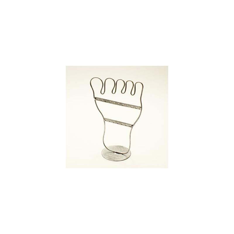 Porte bijoux argent en forme de pied pr sentoirs boucles - Presentoir boucles d oreilles ...