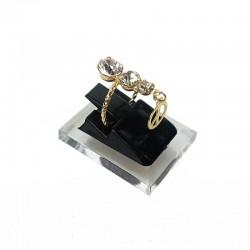 Plot pour bague en acrylique noir 2436