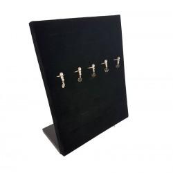 Présentoirs bijoux pour bagues en velours noir - 5464