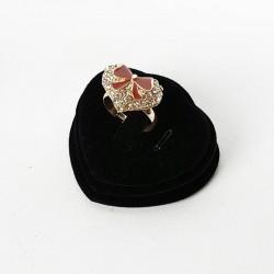 Plot pour bague en velours noir - 3514