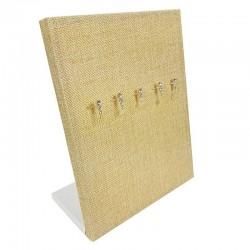 Baguier en toile de jute beige sable vertical - 5465