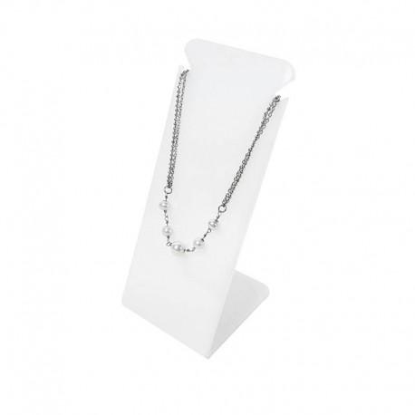 Présentoir bijoux en acrylique blanc pour chaîne - 6729