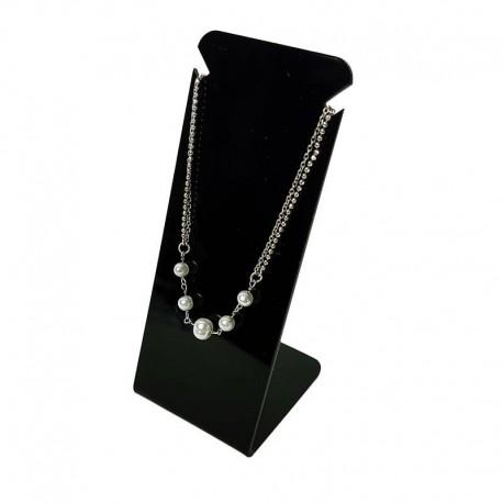 Petit Présentoir bijoux en acrylique noir pour chaîne - 6728