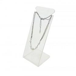 Présentoir bijoux en acrylique transparent pour chaîne - 6727