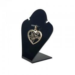 Mini buste en acrylique noir pour parure - 2928