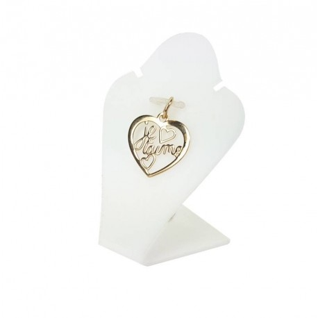 Mini buste en acrylique blanc pour parure - 3430