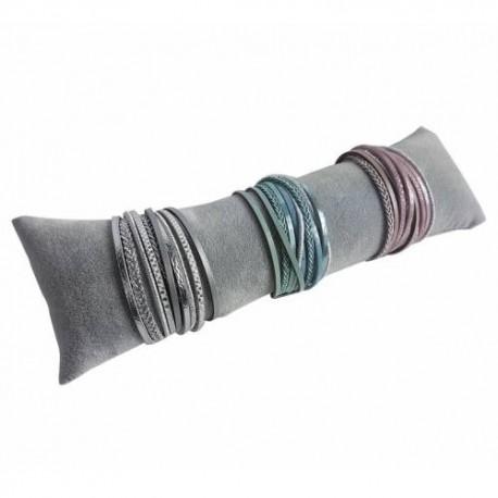 Lot de 20 coussins longs en velours gris 25cm - 6415x20