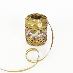 Bobine de raphia synthétique doré 200m - 6981