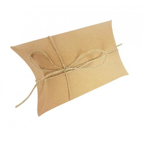 25 boîtes cadeaux berlingot en papier kraft brun 10x17x4.5cm - 6993